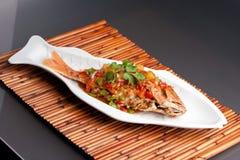 泰国罗望子树红鲷鱼 免版税库存照片