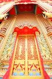 泰国美丽的门的寺庙 库存照片