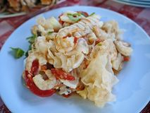 泰国美味的海鲜沙拉() 免版税库存图片