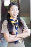 泰国老师女童子军 免版税库存照片