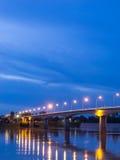 泰国老挝人友谊大桥 免版税库存照片