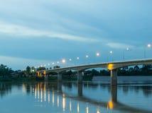 泰国老挝人友谊大桥 图库摄影