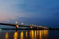 泰国老挝人友谊大桥 免版税图库摄影