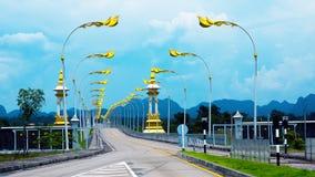 泰国老挝人友谊桥梁 免版税图库摄影