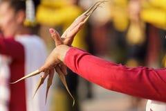 泰国舞蹈演员的姿态 库存照片