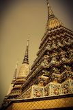 泰国艺术性寺庙 Arunwanaram寺庙,曼谷,泰国 日期:10/21/2014 免版税库存照片