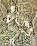泰国艺术灰泥 免版税库存图片