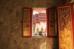 泰国艺术的寺庙 免版税库存照片