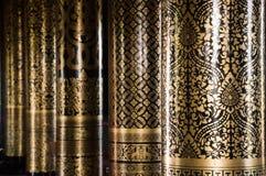 泰国艺术的柱子 库存图片