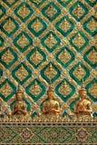 泰国艺术雕塑墙壁 库存图片