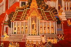 泰国艺术绘画 免版税库存照片