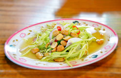 泰国芒果的沙拉 免版税库存图片