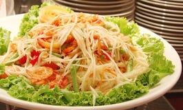 泰国芒果的沙拉 免版税库存照片