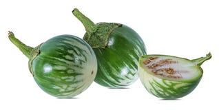 泰国茄子纠错文件传输协议或者老挝人绿色镶边茄子 库存图片