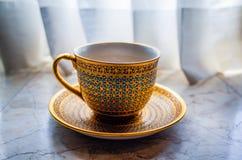 泰国茶杯 免版税库存照片