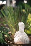 泰国草本球热的压缩按摩 免版税图库摄影