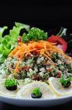 泰国菜沙拉有黑背景 免版税库存图片