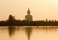 泰国菩萨的雕象 免版税库存照片