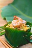 泰国著名传统泰国食物虾的垫 库存图片