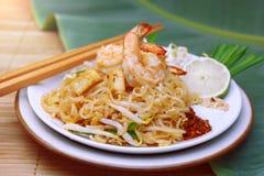 泰国著名传统泰国食物虾的垫 免版税库存图片