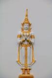 泰国蓝天的寺庙 免版税库存照片