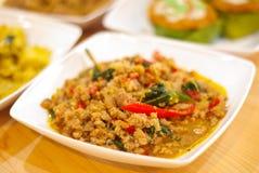 泰国蓬蒿鸡油煎的样式 库存照片