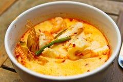 泰国虾咖喱 库存图片
