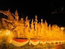 泰国蜡烛艺术 免版税库存照片