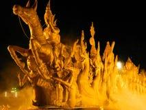 泰国蜡烛艺术 免版税库存图片