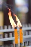 泰国蜡烛 免版税库存照片