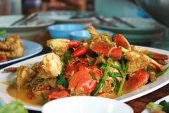 泰国螃蟹的咖喱 免版税库存图片