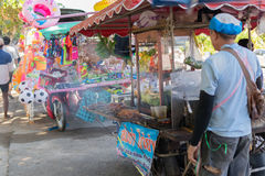 泰国街道食物,烤鸡 免版税库存图片