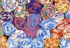 泰国被编织的棉花缠腰带 图库摄影