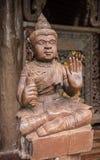泰国角度雕象 库存图片