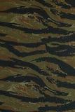 泰国警察绿化tigerstripe伪装织品 免版税库存图片