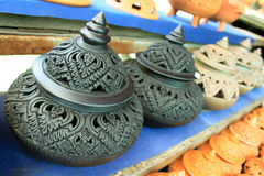 泰国设计的罐 库存图片