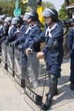 泰国资本一致的示威者 免版税库存照片