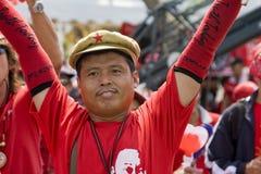 泰国资本一致的示威者 库存图片