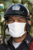 泰国资本一致的示威者 免版税库存图片
