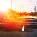 泰国路线风景汽车路标线中部 库存照片