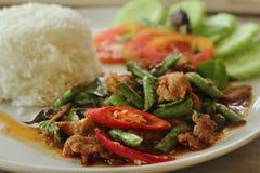 泰国辣咖喱猪肉 免版税图库摄影