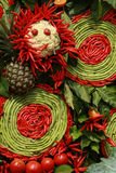 泰国辣椒和菜泰国厨房的 库存图片