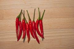 泰国辣椒,热的` s,辣,但是有益于健康并且保留食物更加可口 图库摄影