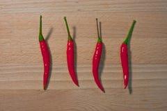 泰国辣椒,热的` s,辣,但是有益于健康并且保留食物更加可口 免版税库存照片