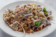 泰国辣肉末沙拉 免版税库存图片
