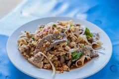 泰国辣肉末沙拉 免版税库存照片