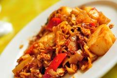 泰国酒醉食物的面条 免版税库存照片