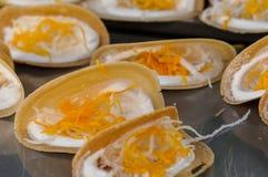 泰国酥脆薄煎饼 库存图片