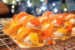泰国酥脆薄煎饼 免版税库存照片