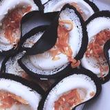 泰国酥脆薄煎饼 免版税库存图片